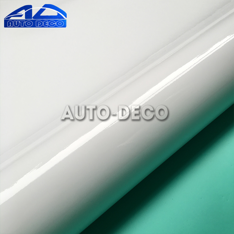 Wholesale White Glossy Vinyl Sticker Car Wrap Film Sheet For Car Cover Color Change With Air Bubble Free Size1.52*30m/roll