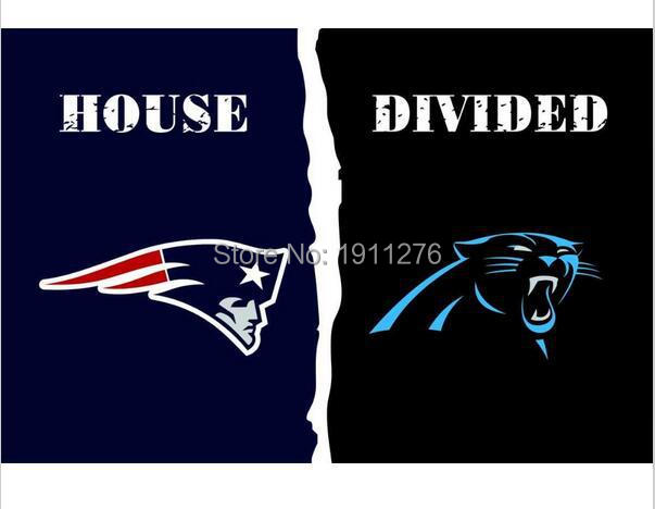 3X5 FT New England Patriots VS Carolina Panthers bayrak 100D polyester dijital baskılı metal Grommets ile afiş