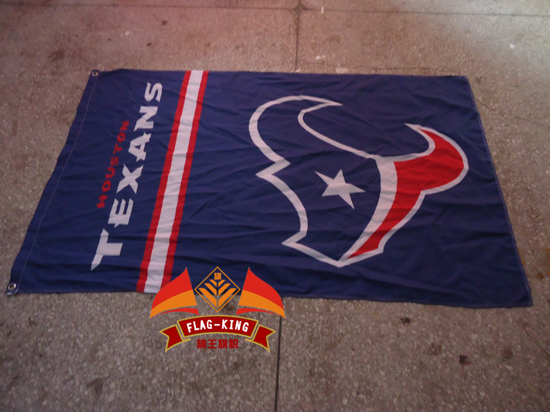 Houston Texans Futbol Club house bayrak, NFL bayrağı, Houston Texans Futbol Club house banner, 90*150 CM polyester banner