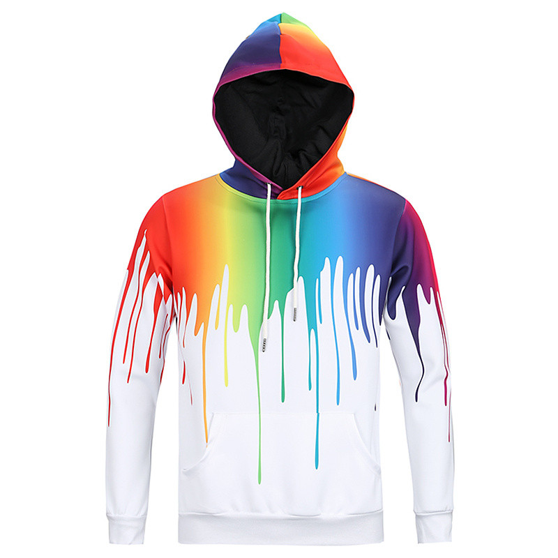 2017 Mr. BaoLong & Miss. GO hoody hip hop moda 3D hem yan Graffiti baskılı kapüşonlu kazak erkekler assassins creed hoodies adam