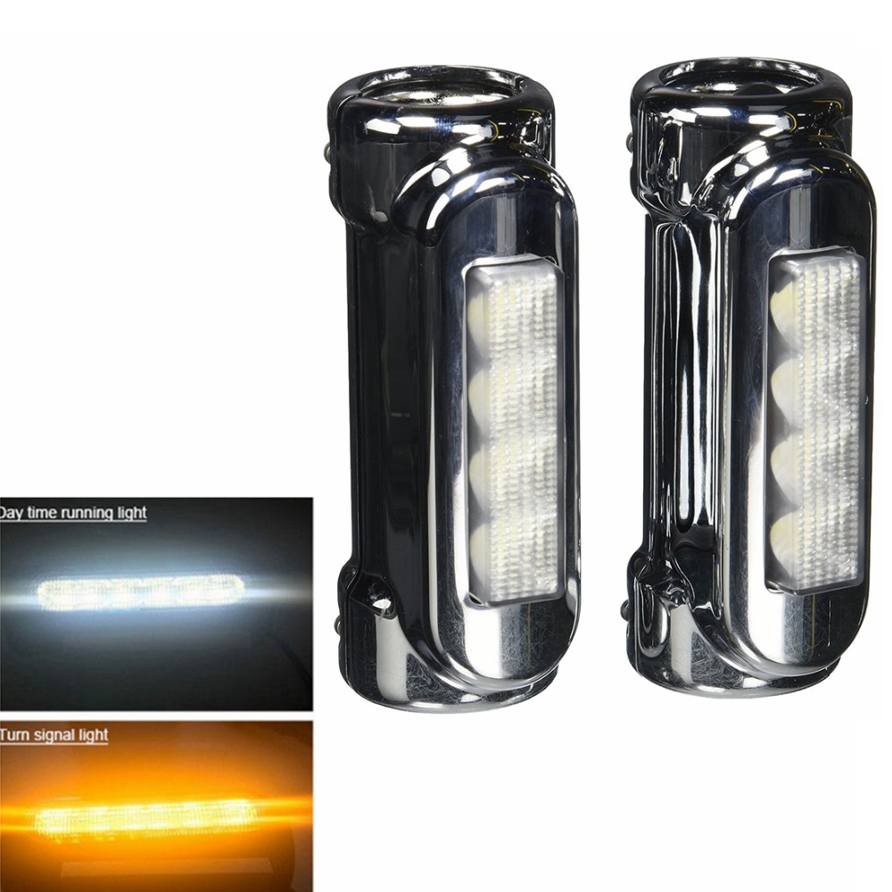 Motosiklet Highway Crash Bar Işık Sürüş Işık Için 12 LED Switchback Harley Touring Modelleri